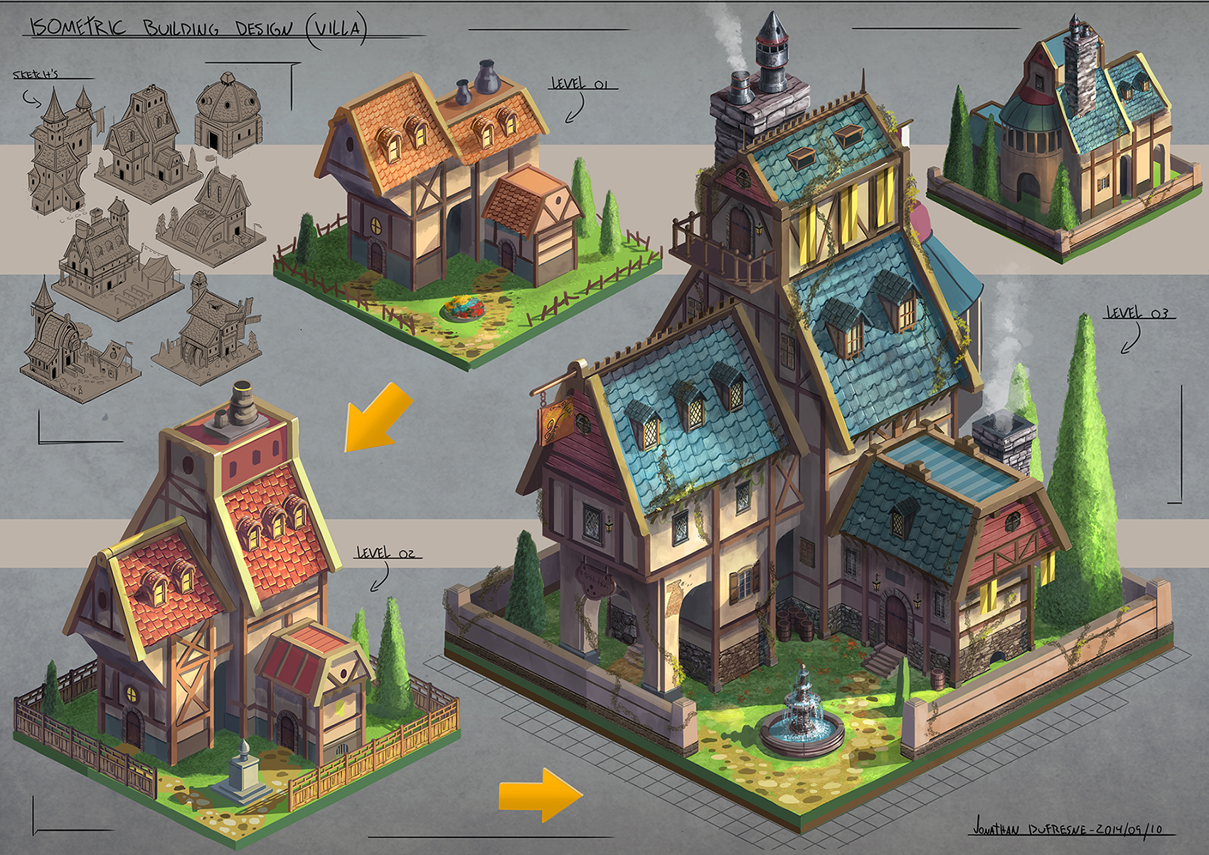 Jonathan dufresne concept artist illustrator for House planning games